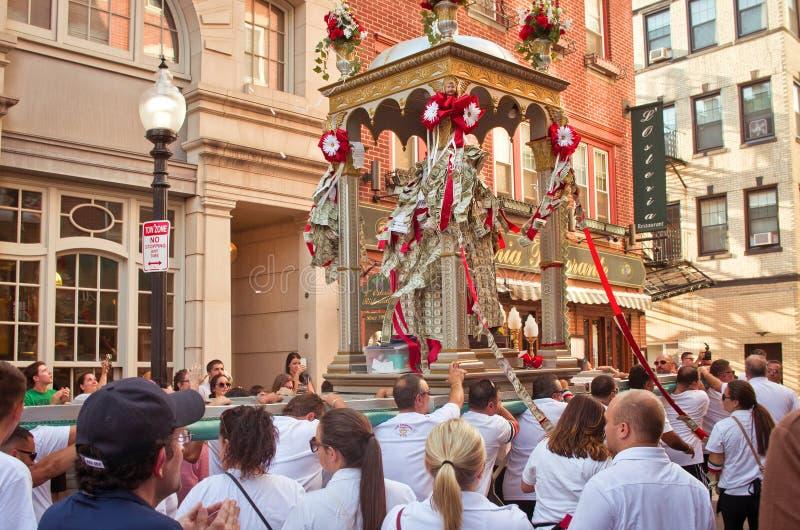 Festa em honra de Saint Agrippina em Boston, EUA fotografia de stock