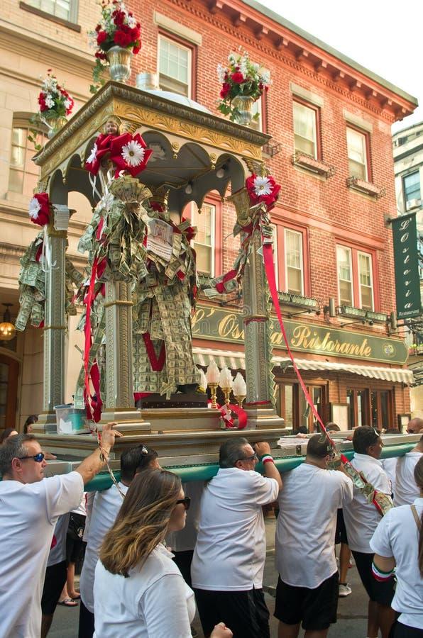 Festa em honra de Saint Agrippina em Boston, EUA imagem de stock