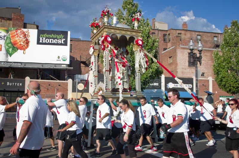 Festa em honra de Saint Agrippina em Boston, EUA imagens de stock
