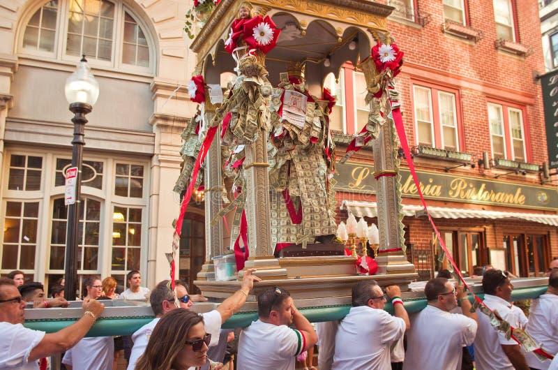 Festa em honra de Saint Agrippina em Boston, EUA imagem de stock royalty free