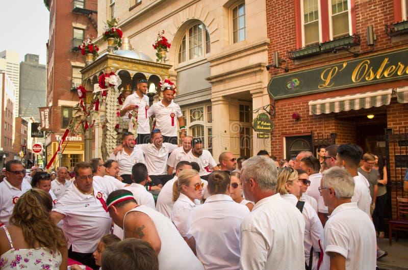 Festa em honra de Saint Agrippina em Boston, EUA foto de stock royalty free