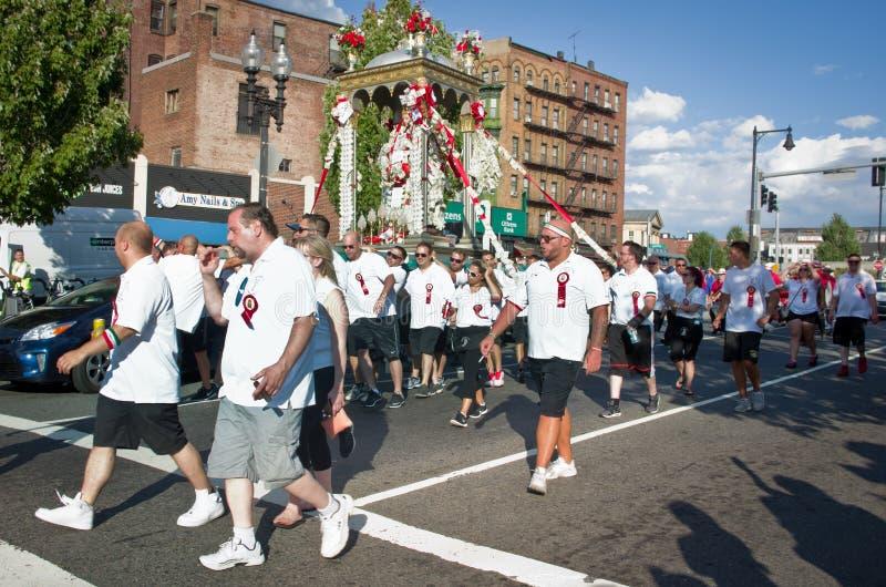 Festa em honra de Saint Agrippina em Boston, EUA fotos de stock royalty free