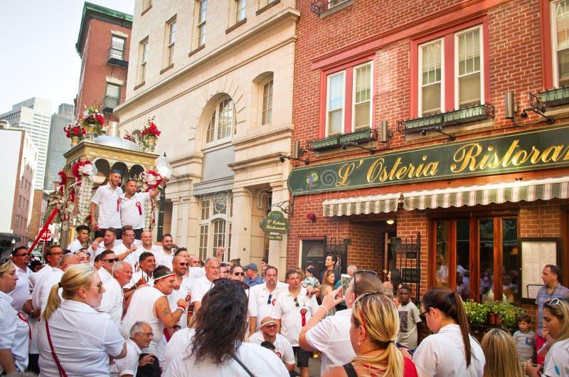 Festa em honra de Saint Agrippina em Boston, EUA fotografia de stock royalty free