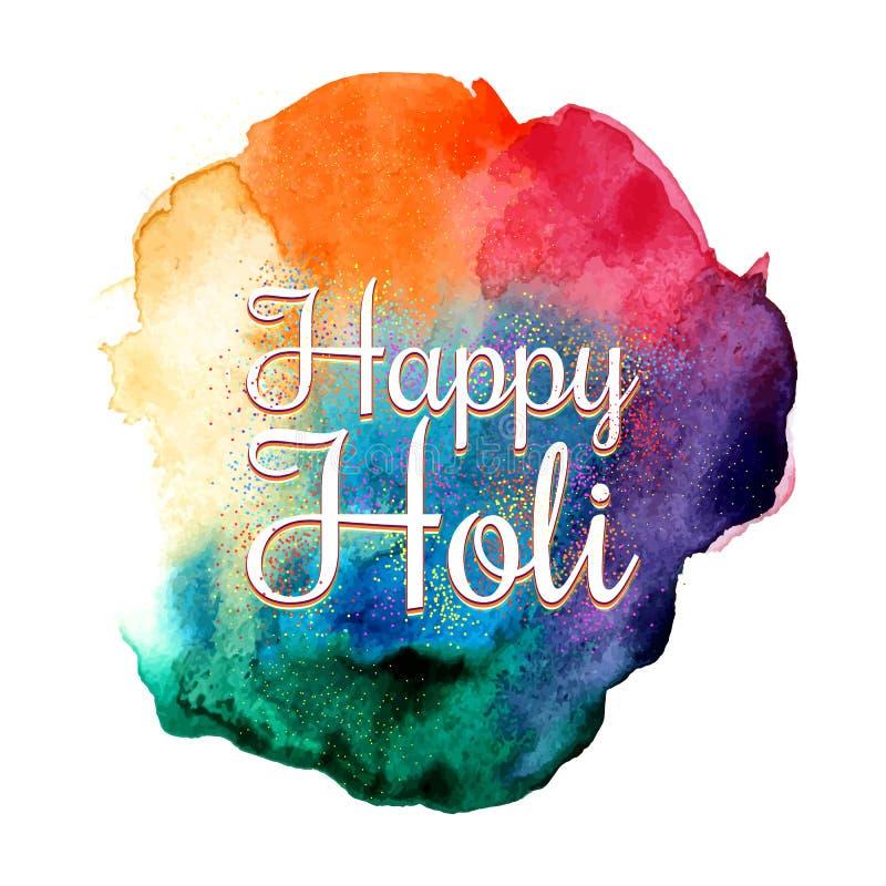 Festa indiana tradizionale Fondo variopinto di festival di Holi illustrazione di stock