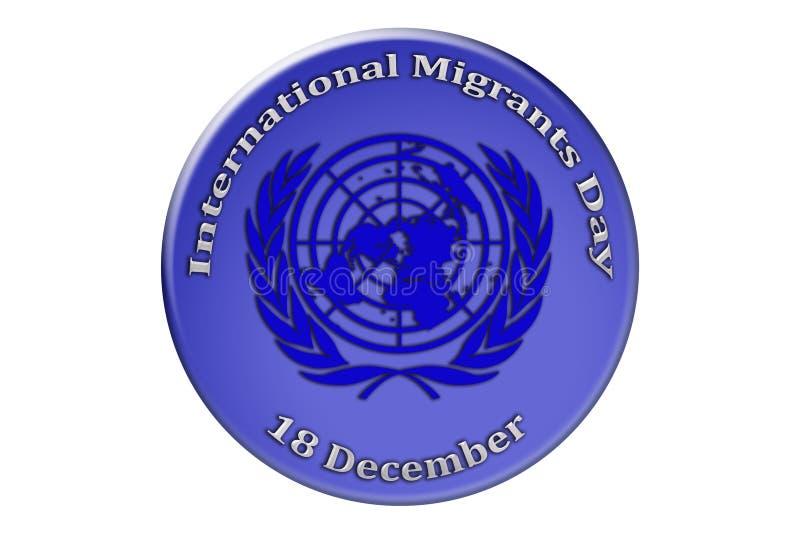 Festa internazionale delle nazioni unite, Migra internazionale illustrazione di stock