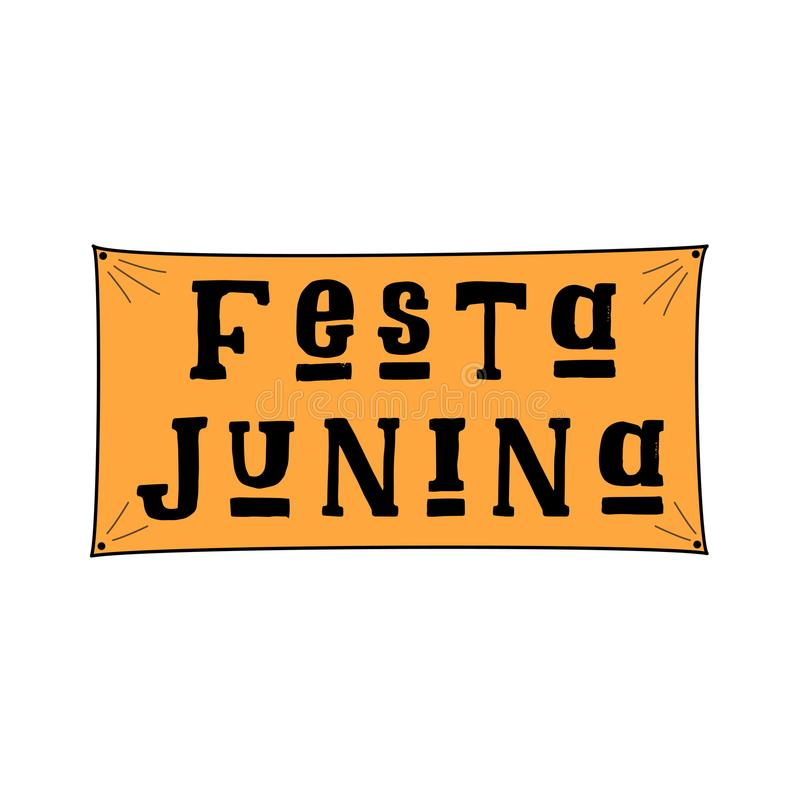 Festa Junina, φεστιβάλ Ιουνίου στην πορτογαλική γλώσσα απεικόνιση αποθεμάτων