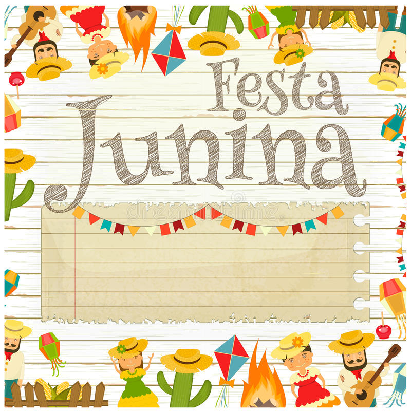 Festa Junina - фестиваль Бразилии бесплатная иллюстрация