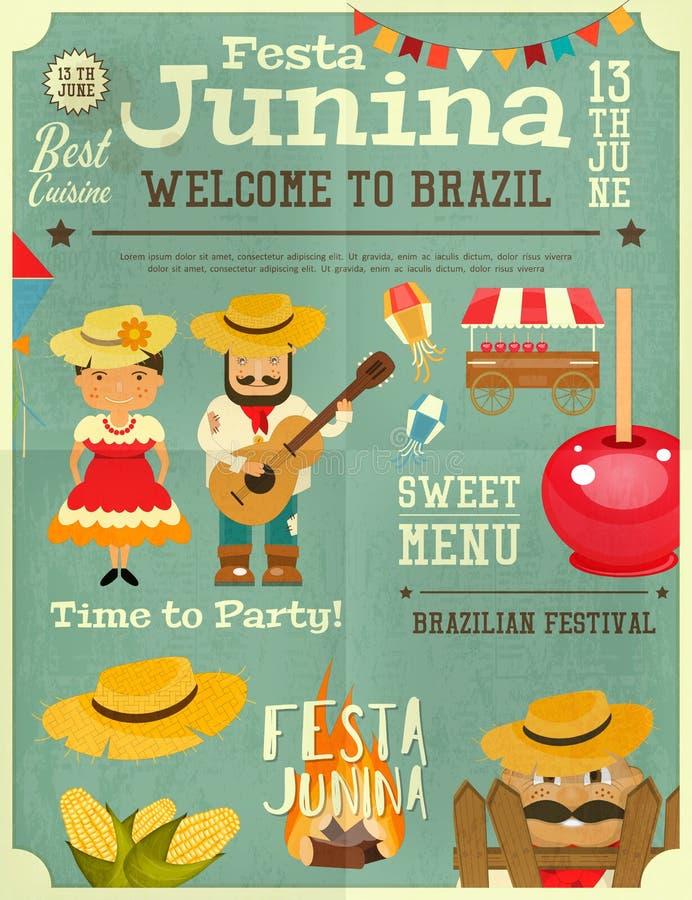 Festa Junina - Brasilien festival royaltyfri illustrationer