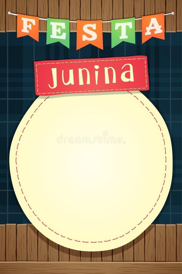 Festa Junina, calibre de partie de juin de Brésilien ou invitent - A5 illustration stock