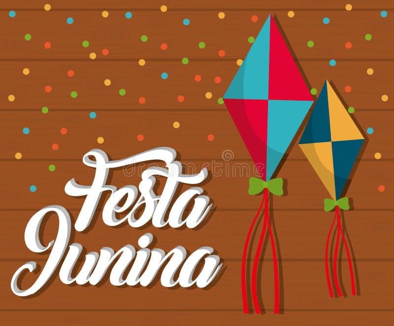 Festa Junina design royaltyfri illustrationer