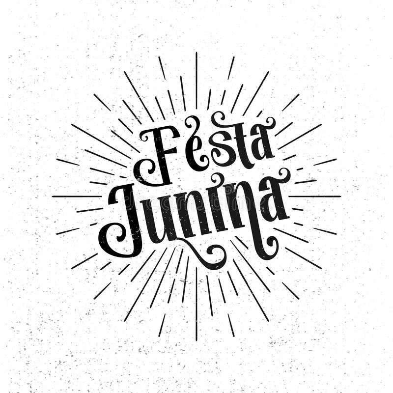 Festa Junina Festival tradizionale del Brasile giugno illustrazione vettoriale