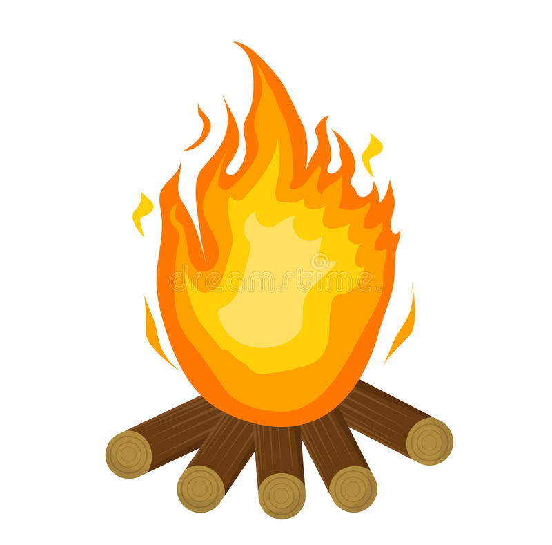 festa junina fire icon flat cartoon style bonfire isolated on rh dreamstime com clip art fireplace flames clipart fireplace flames
