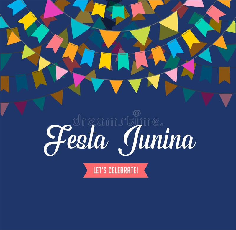 Festa Junina - latin - amerikan, brasilianJuni festival stock illustrationer