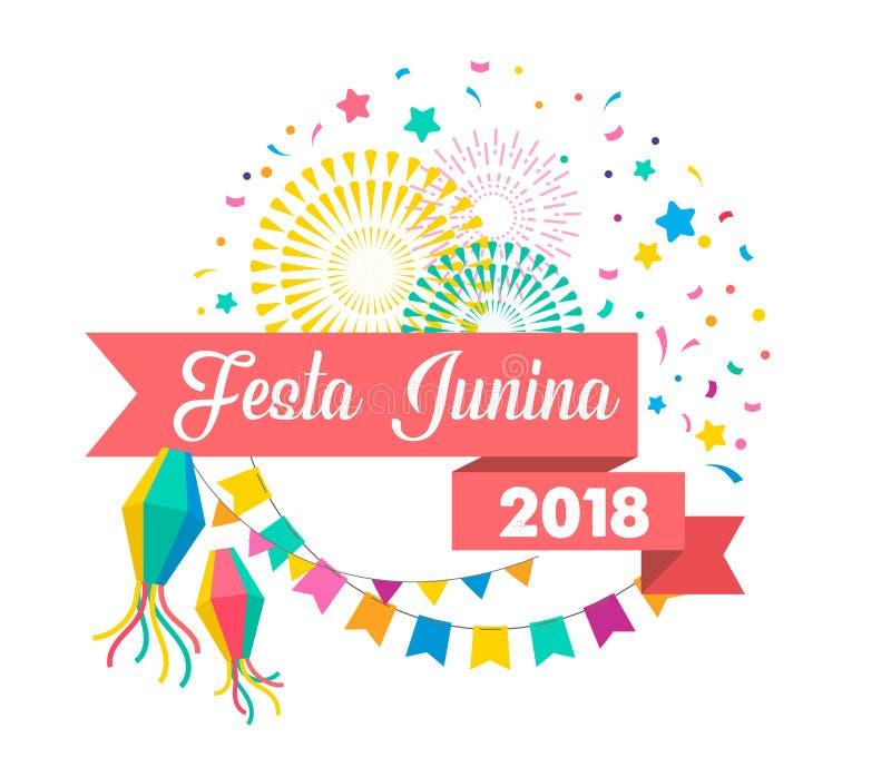 Festa Junina - latino-américain, festival de juin de Brésilien illustration stock