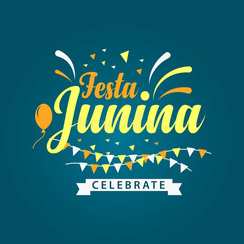 Festa Junina Logo Vector Template Design Illustration illustration de vecteur