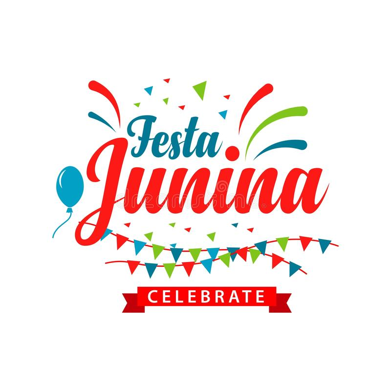 Festa Junina Logo Vector Template Design Illustration illustration stock