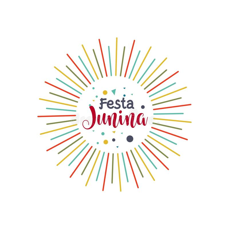 Festa Junina Logo Vector Template Design Illustration illustration libre de droits