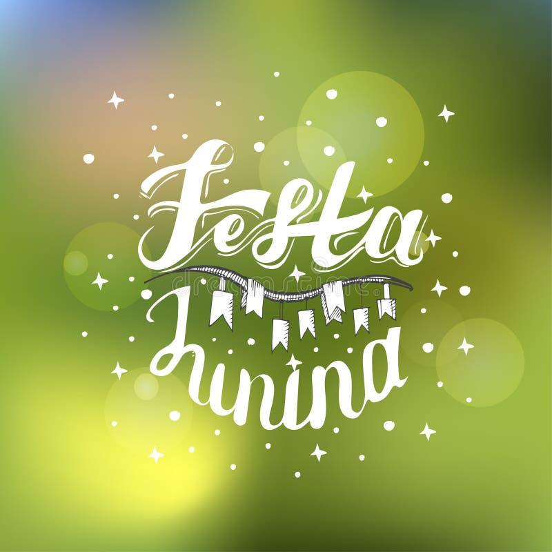 Festa Junina Progettazione di carta di festa per il fest de Sao Joao di giugno del brasiliano sui precedenti vaghi Illustrazione  royalty illustrazione gratis