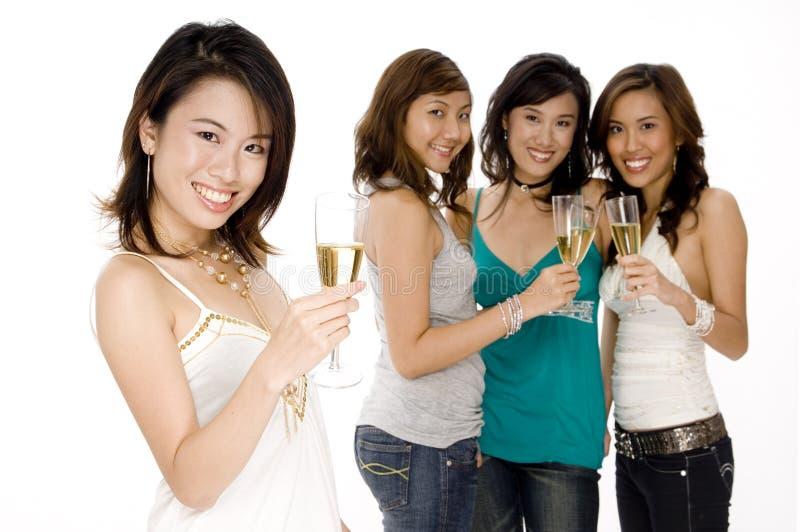 Festa med vänner arkivfoto