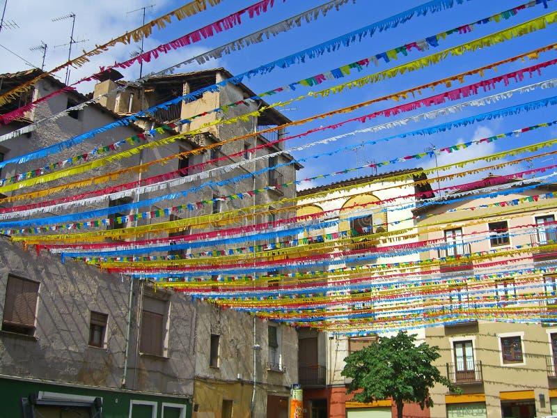 Festa nazionale della Catalogna a Olot fotografie stock libere da diritti