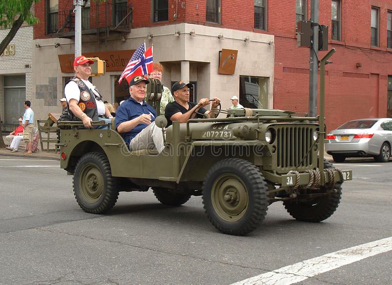 Festa nazionale norvegese a Brooklyn fotografia stock