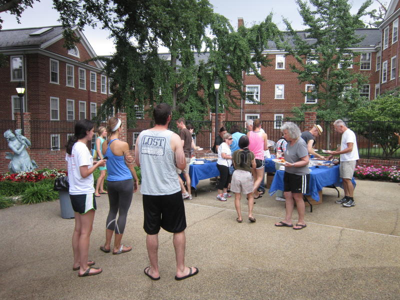 Festa in piscina di estate in Washington DC immagini stock libere da diritti