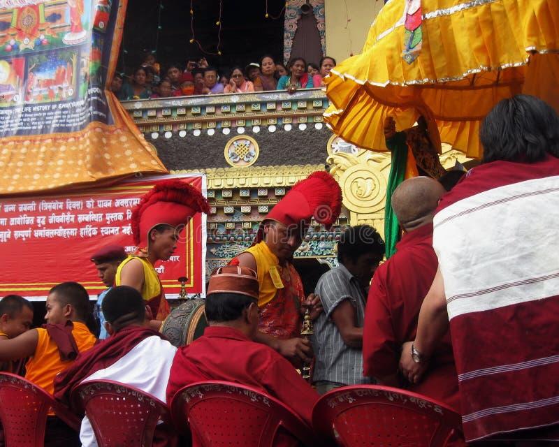 Festa religiosa buddista Kathmandu Nepal di Vesak fotografia stock libera da diritti