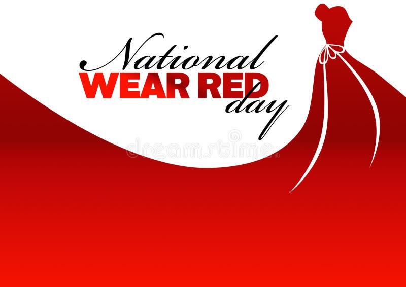 Festa rossa di giorno di usura nazionale illustrazione di stock