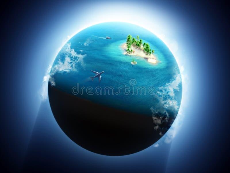 Festa sull'isola tropicale royalty illustrazione gratis