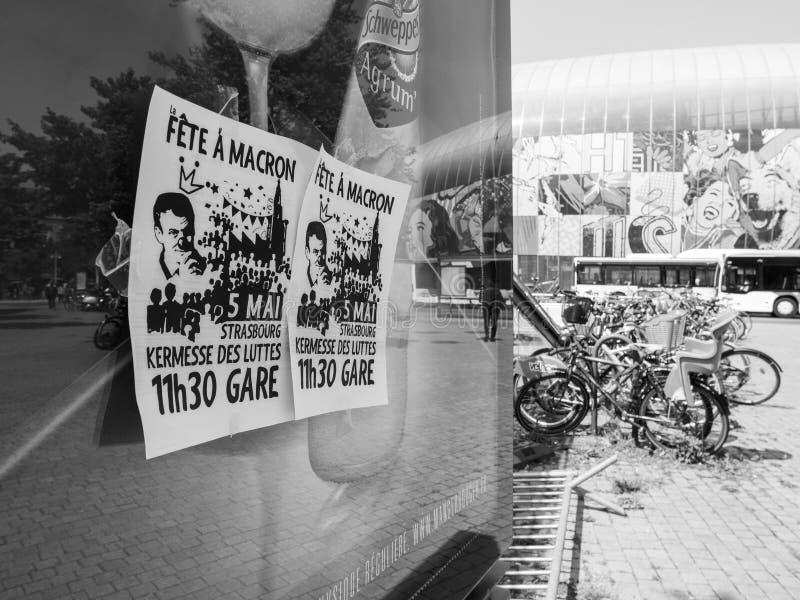 Festa un Macron fotografie stock libere da diritti