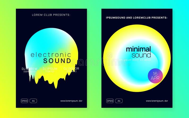 Festaffisch och reklamblad för sommarmusik vektor illustrationer
