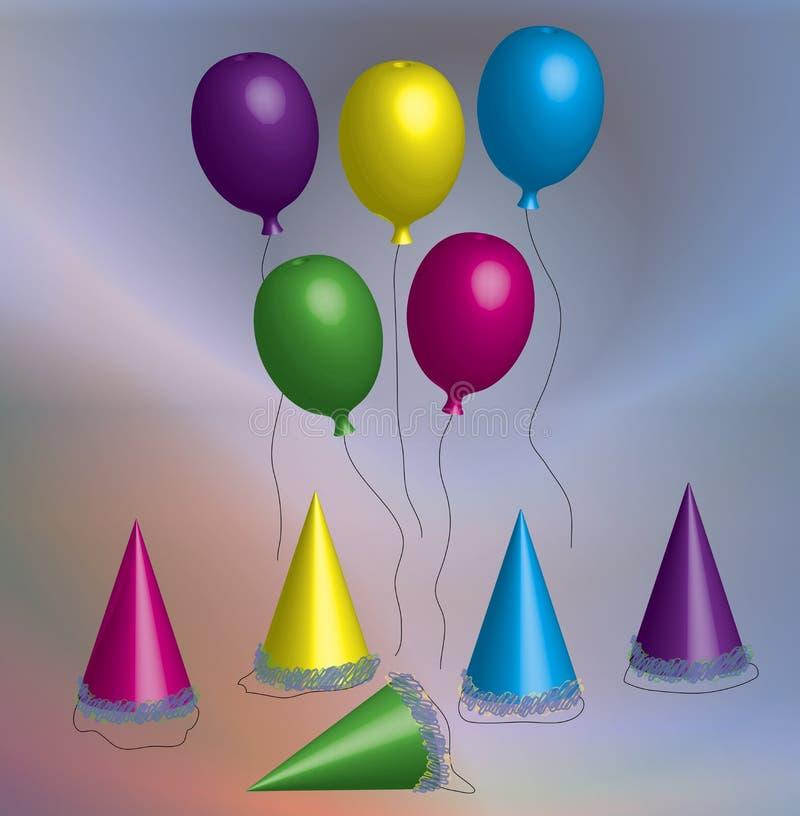 Festança do aniversário ilustração stock