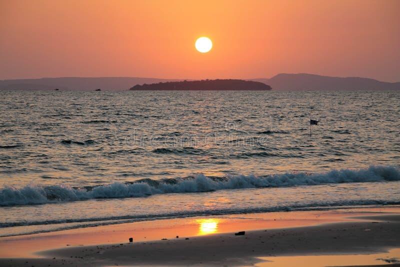 Feste in Cambogia bella vista dalla spiaggia Mondo impressionante del viaggio Resto di estate fotografia stock libera da diritti