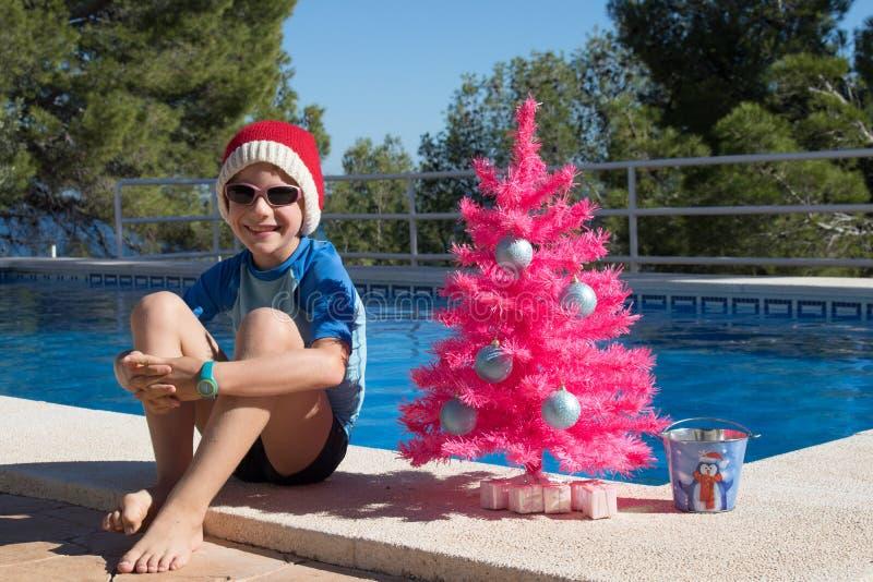 Feste di natale felice  Cartolina di Buon Natale fotografia stock libera da diritti