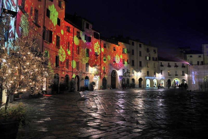 Feste di Natale a Lucca immagine stock libera da diritti