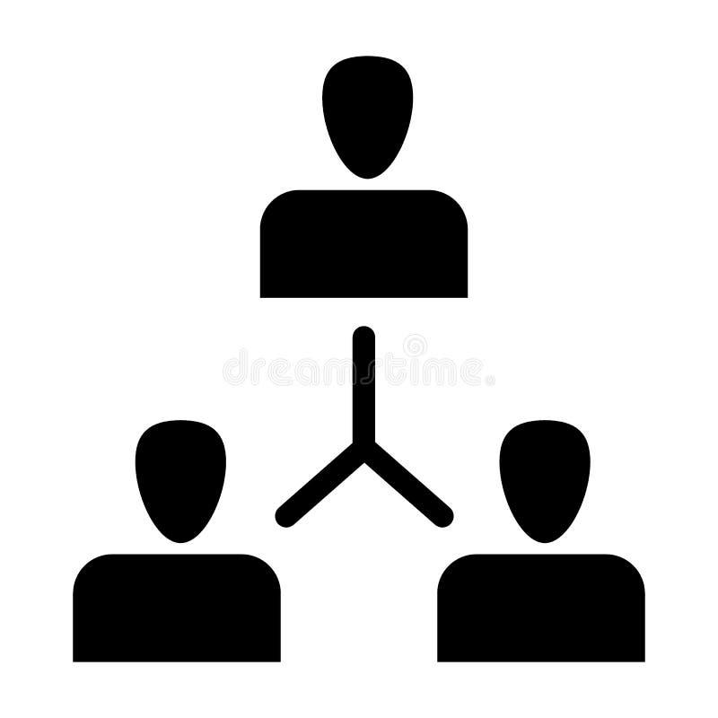 Feste Ikone der Gruppe von Personen Austausch der Ideenillustration lokalisiert auf Wei? Team Glyph-Artentwurf, bestimmt f?r Netz vektor abbildung