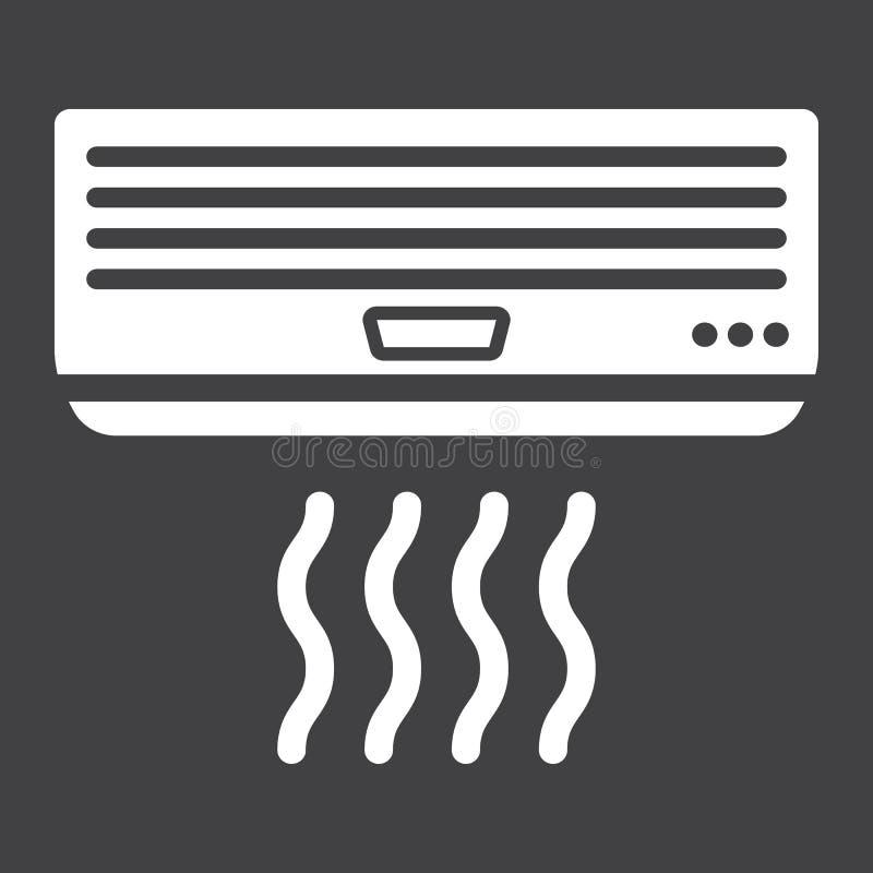 Feste Ikone Der Klimaanlage, Elektrisch Und Gerät Vektor Abbildung ...