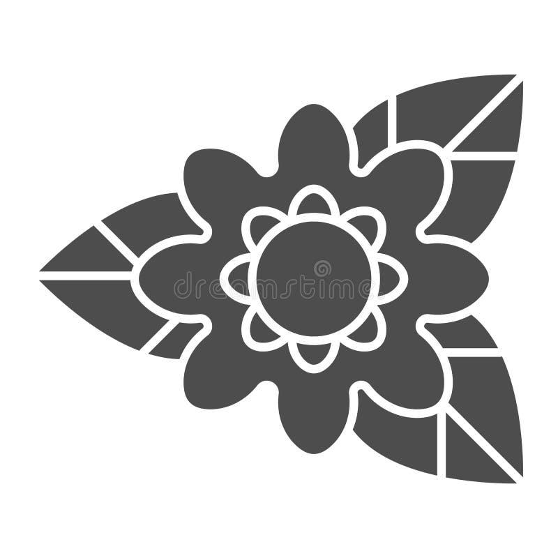 Feste Ikone der seltenen Blume Naturvektorillustration lokalisiert auf Wei? Anlagenglyph-Artdesign, bestimmt f?r Netz und APP vektor abbildung