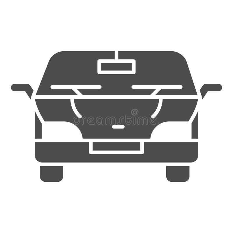Feste Ikone des Automobils Autovektorillustration lokalisiert auf Weiß Fahrzeug Glyph-Artdesign, bestimmt für Netz und APP vektor abbildung