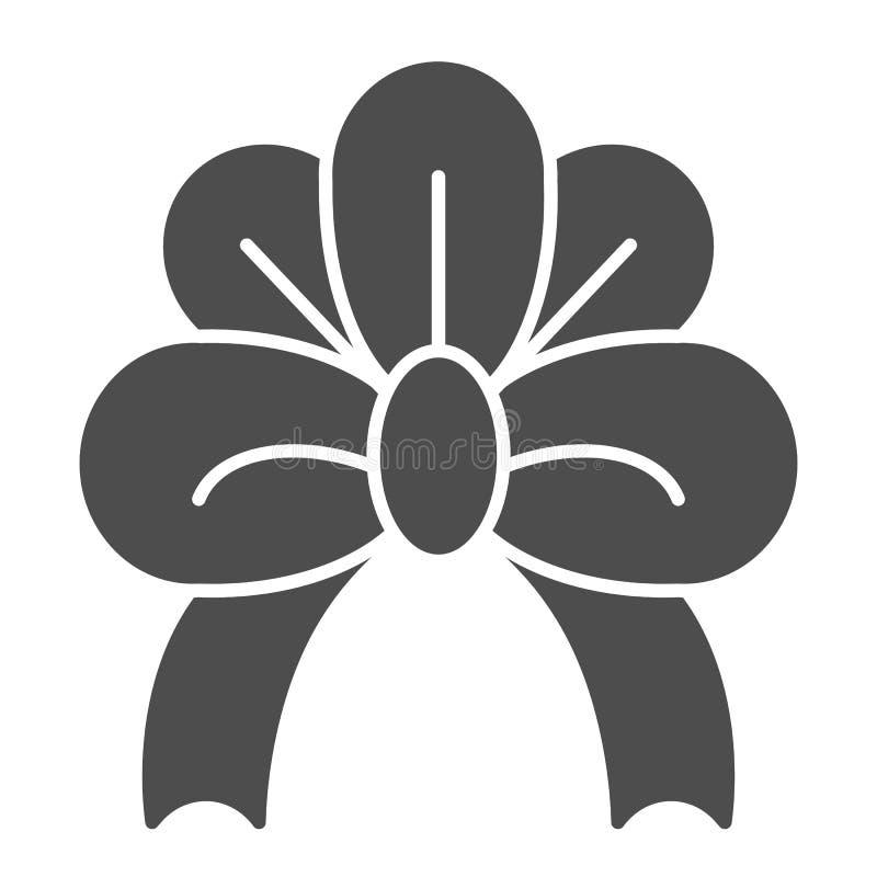 Feste Ikone des festlichen Bogens Anwesende Dekorvektorillustration lokalisiert auf Weiß Netter Knoten Glyph-Artentwurf, entworfe lizenzfreie abbildung