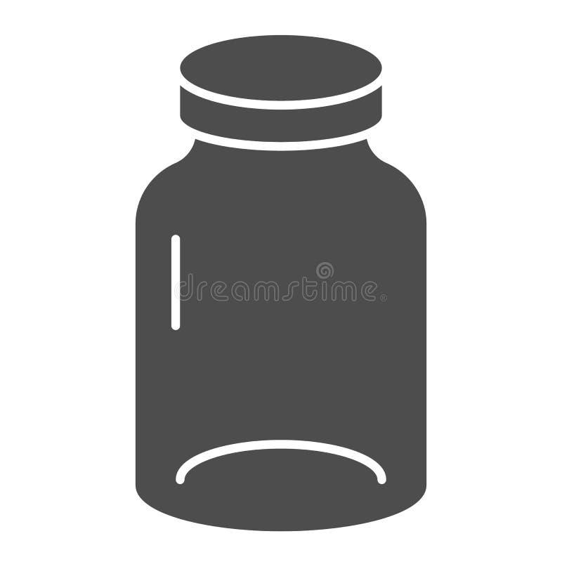 Feste Ikone des Glases Glasvektorillustration lokalisiert auf Wei? Topf Glyph-Artdesign, bestimmt f?r Netz und APP ENV 10 lizenzfreie abbildung