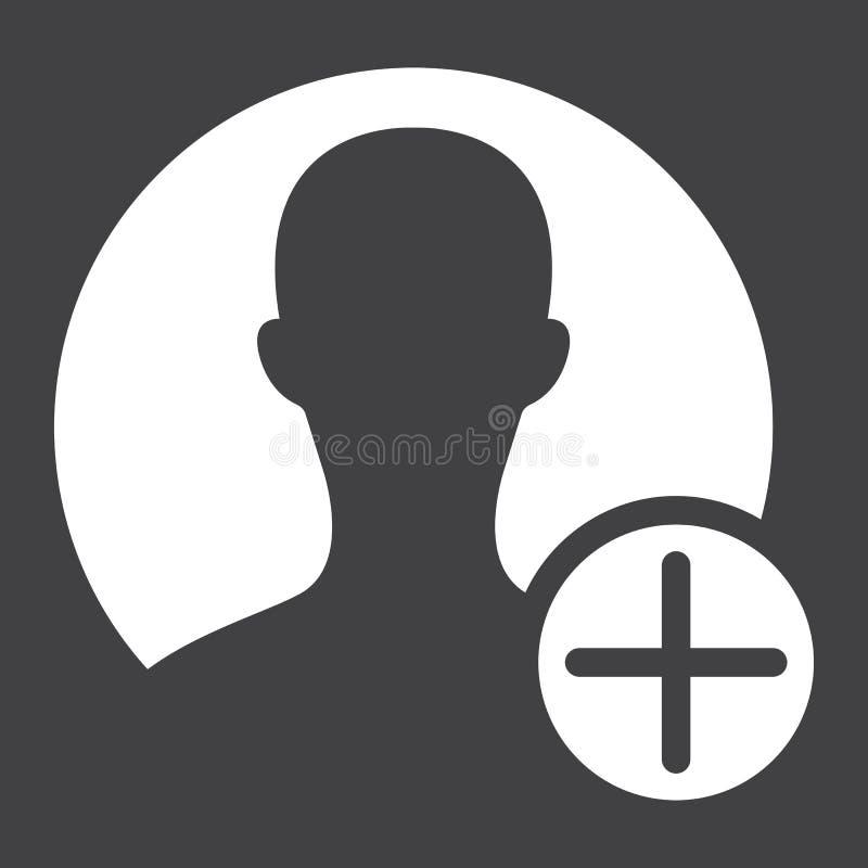 Feste Ikone, Konto und Website des Benutzerprofils vektor abbildung