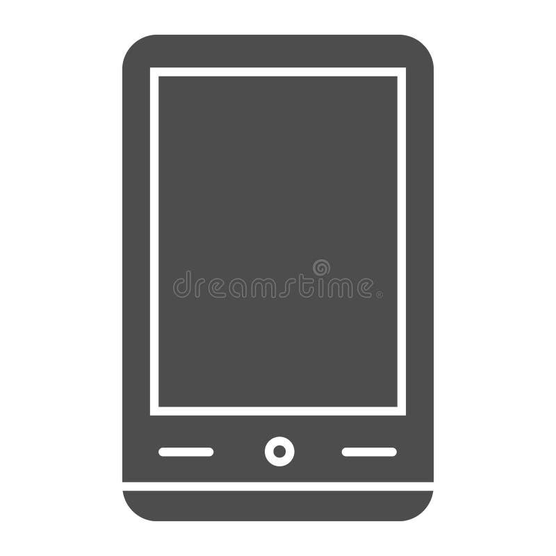 Feste Ikone Smartphones Handyvektorillustration lokalisiert auf Weiß Telefon Glyph-Artentwurf, bestimmt für Netz stock abbildung