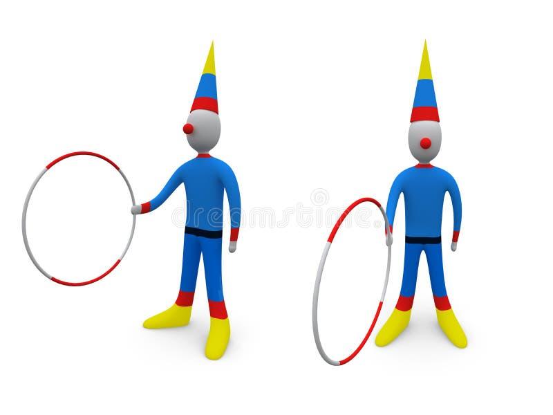 Feste - pagliaccio illustrazione vettoriale