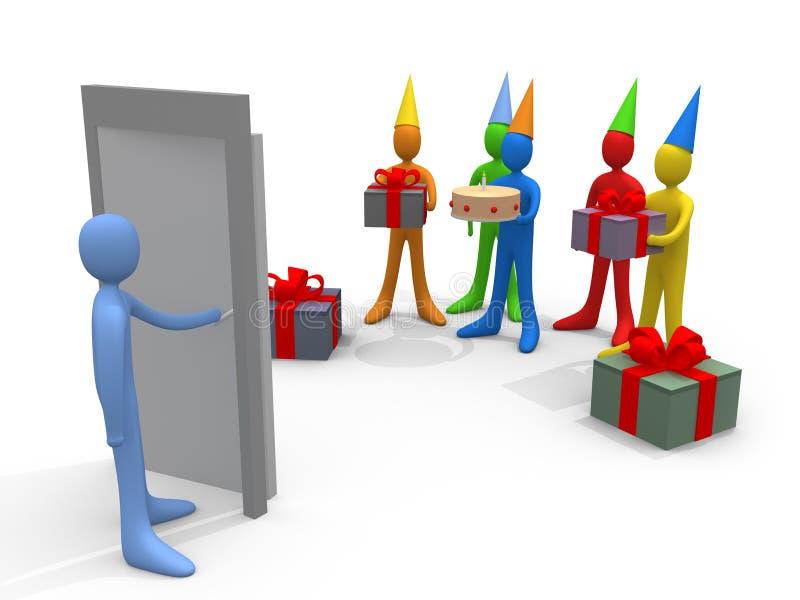 Feste - partito di sorpresa royalty illustrazione gratis