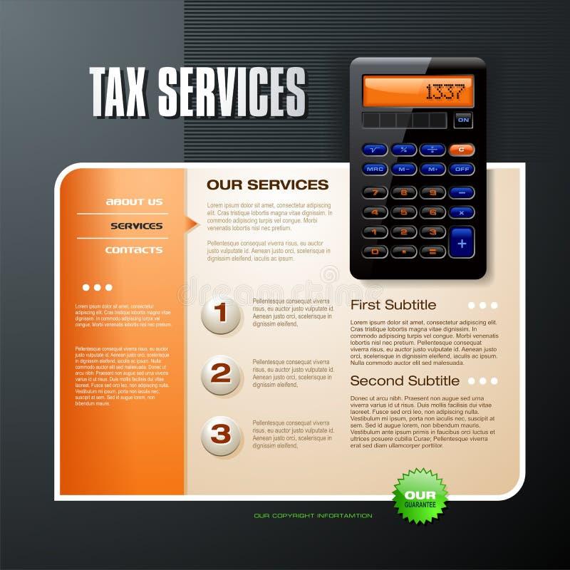 Feste Web-Schablone der Steuer vektor abbildung