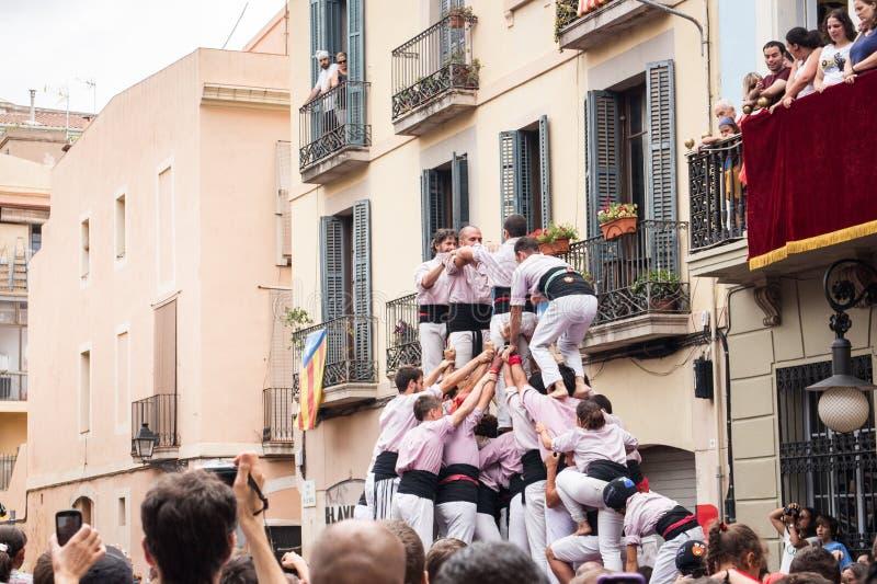 Festes de Gracia royaltyfri fotografi