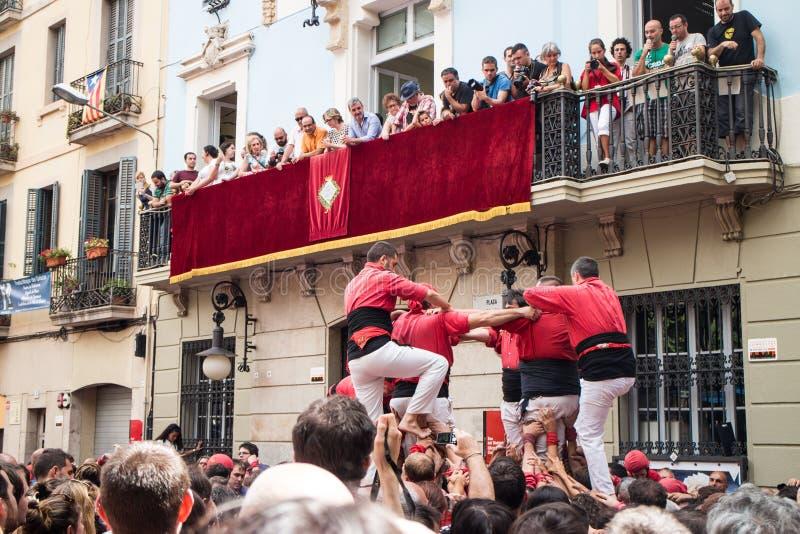 Festes de Gracia royaltyfri foto