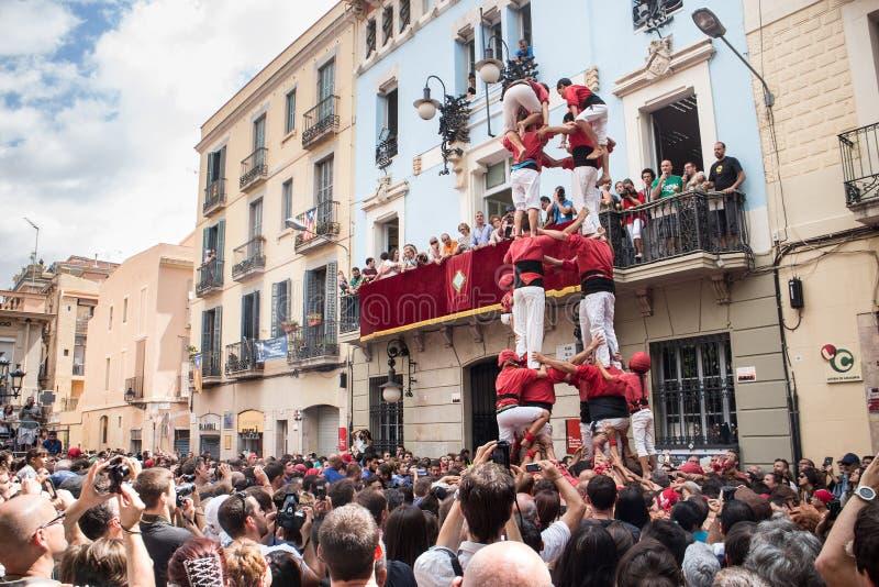 Festes de Gracia royaltyfria bilder
