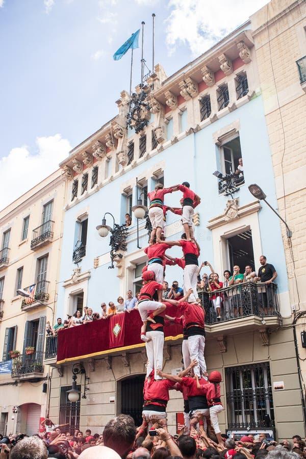 Festes de Gracia arkivbild